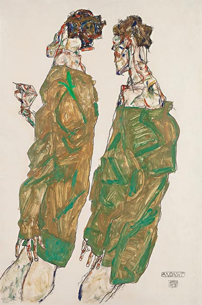 Devotion, 1913 | Schiele | Painting Reproduction