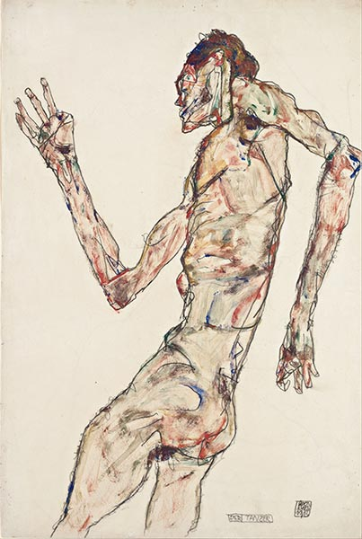 The Dancer, 1913 | Schiele | Painting Reproduction