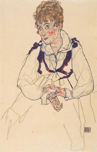 Portrait of Edith Schiele, 1917 | Schiele | Painting Reproduction