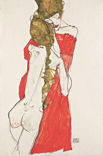 Mother and Daughter, 1913 | Schiele | Painting Reproduction