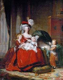 Elisabeth-Louise Vigee Le Brun | Marie-Antoinette and her Children, 1787 | Giclée Canvas Print