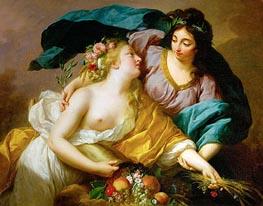 Elisabeth-Louise Vigee Le Brun | Peace Leads Abundance, 1780 | Giclée Canvas Print