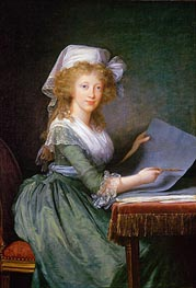 Elisabeth-Louise Vigee Le Brun | Mary Louise of Bourbon-Sicily, Grand Duchess of Tuscany, 1790 | Giclée Canvas Print