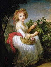 Elisabeth-Louise Vigee Le Brun | Portrait of Marie-Christine of Bourbon-Naples, c.1790 | Giclée Canvas Print