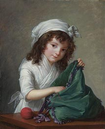 Elisabeth-Louise Vigee Le Brun | Mademoiselle Brongniart, 1788 | Giclée Canvas Print