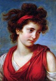 Elisabeth-Louise Vigee Le Brun | Portrait of Maguerite Porporati, 1792 | Giclée Canvas Print