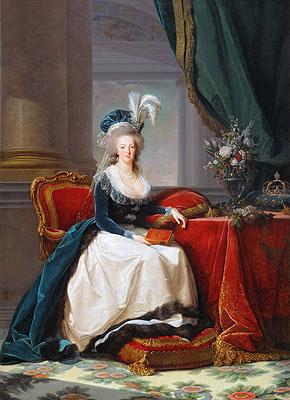 Queen Marie-Antoinette, 1788 | Elisabeth-Louise Vigee Le Brun | Painting Reproduction