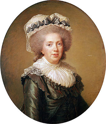 Portrait of Adelaide de France, 1791 | Elisabeth-Louise Vigee Le Brun | Painting Reproduction