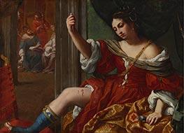 Elisabetta Sirani | Portia Wounding Her Thigh, 1664 | Giclée Canvas Print
