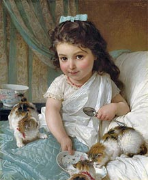 Emile Munier | The Morning Meal, 1880 | Giclée Canvas Print