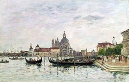 Eugene Boudin | Santa Maria della Salute and the Dogana, Venice | Giclée Canvas Print