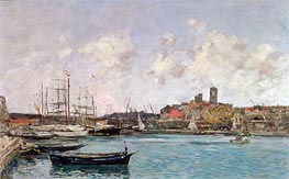 Eugene Boudin | View of Antibes | Giclée Canvas Print