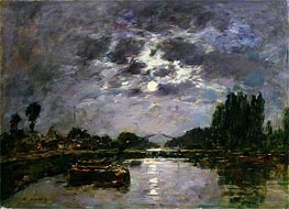 Eugene Boudin | The Effect of the Moon | Giclée Canvas Print