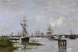 Eugene Boudin | The Port at Anvers | Giclée Canvas Print