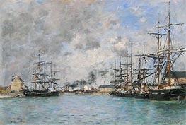 Eugene Boudin | Deauville, the Bassin | Giclée Canvas Print