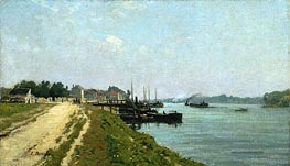 Eugene Boudin | Banks of the Seine | Giclée Canvas Print