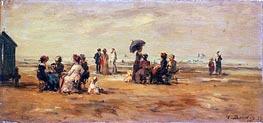 Eugene Boudin | The Beach at Trouville | Giclée Canvas Print