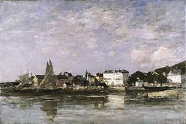 Eugene Boudin | View of the Harbour at Trouville | Giclée Canvas Print