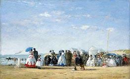 Eugene Boudin | Fashionable Figures on the Beach | Giclée Canvas Print