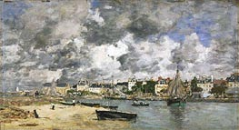 Eugene Boudin | View of Trouville, 1873 | Giclée Canvas Print