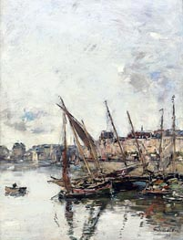 Eugene Boudin | The Harbour of Trouville, Low Tide, 1894 | Giclée Canvas Print