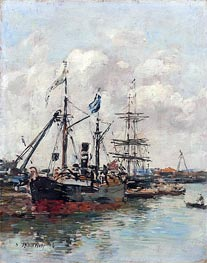 Eugene Boudin | Trouville, the Harbour, 1894 | Giclée Canvas Print