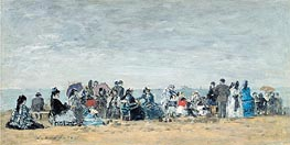 Eugene Boudin | The Beach at Trouville, 1872 | Giclée Canvas Print