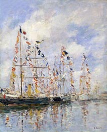 Eugene Boudin | Yacht Basin at Trouville-Deauville, c.1895/96 | Giclée Canvas Print