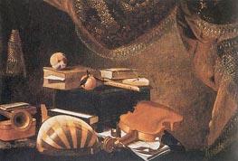 Baschenis | Still-Life with Musical Instruments | Giclée Canvas Print