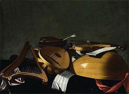 Baschenis | Musical Instruments, undated | Giclée Canvas Print