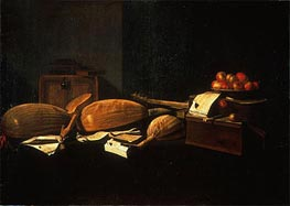 Baschenis | Still Life with Musical Instruments | Giclée Canvas Print