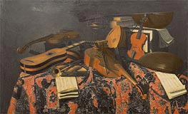 Baschenis | Still Life with Musical Instruments, Undated | Giclée Canvas Print