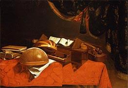 Baschenis   Still Life with Musical Instruments, Undated   Giclée Canvas Print