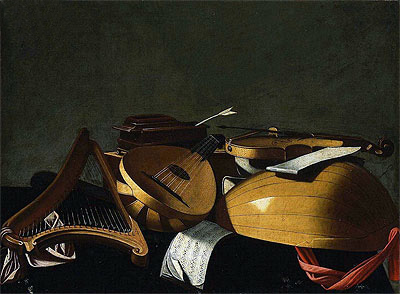 Musical Instruments, undated | Baschenis | Painting Reproduction