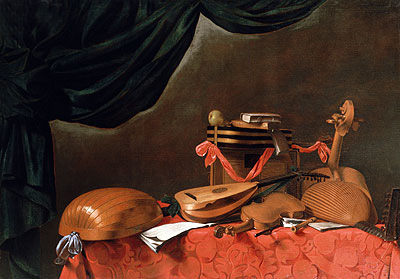 Still Life with Musical Instruments, undated | Baschenis | Painting Reproduction