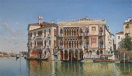 Federico del Campo | The Ca d'Oro, Venice, 1885 | Giclée Canvas Print