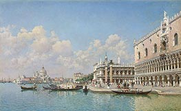 Federico del Campo | View towards the Doge's Palace and Santa Maria della Salute, undated | Giclée Canvas Print