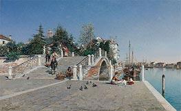 Federico del Campo | Ponte Della Calcina, Dorsoduro, Venice, 1888 | Giclée Canvas Print