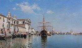 Federico del Campo | La Chiesa Gesuati from the Canale Della Giudecca, Venice, 1887 | Giclée Canvas Print