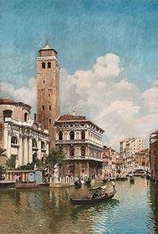 Federico del Campo | Gondolas on a Venetian Canal, 1905 | Giclée Canvas Print