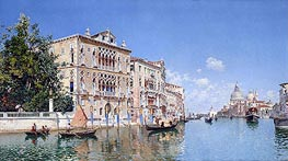 Federico del Campo | The Grand Canal, 1885 | Giclée Canvas Print