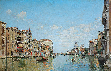 Federico del Campo | View of the Grand Canal of Venice, 1913 | Giclée Canvas Print