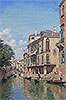 del Campo - A Busy Day on a Venetian Canal - Art Print / Posters