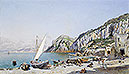del Campo - Beach at Capri - Art Print / Posters
