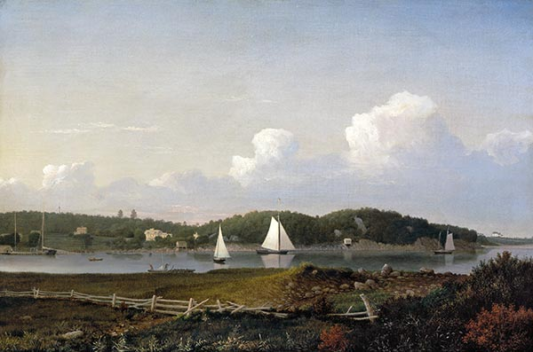 Fresh Water Cove from Dolliver's Neck, Gloucester, c.1850/54 | Fitz Henry Lane | Painting Reproduction