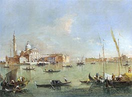 Francesco Guardi | Venice: San Giorgio Maggiore with the Giudecca and the Zitelle | Giclée Canvas Print