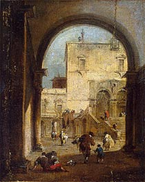Francesco Guardi | Venetian Capriccio: View of a Square and a Palace | Giclée Canvas Print