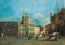 Francesco Guardi | St. Mark's Square in Venice with the Clocktower | Giclée Canvas Print
