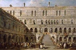 Francesco Guardi | The Coronation of the Doge of Venice on the Scala dei Giganti of the Palazzo Ducale | Giclée Canvas Print