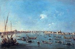 Francesco Guardi   Regatta on the Canale della Guidecca   Giclée Canvas Print